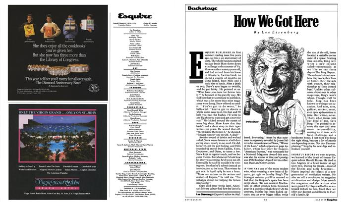 Article Preview: How We Got Here, July 1989 1989 | Esquire
