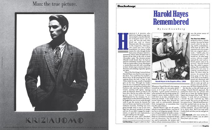 Article Preview: Harold Hayes Remembered, August 1989 | Esquire