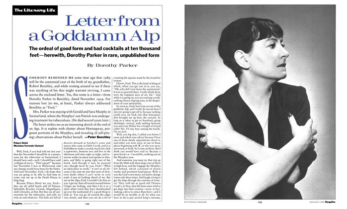 Article Preview: Letter From a Goddamn Alp, August 1989 | Esquire