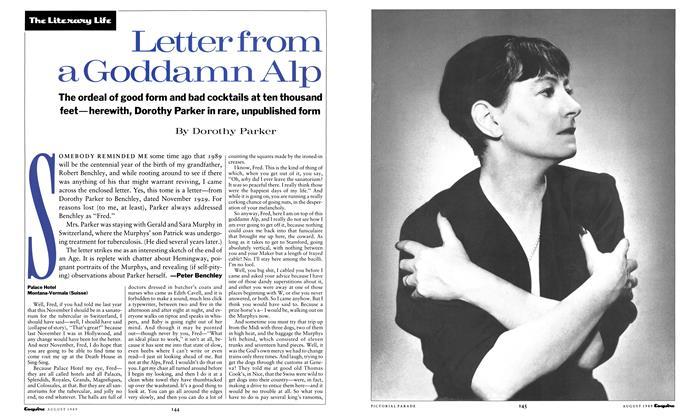 Letter From a Goddamn Alp
