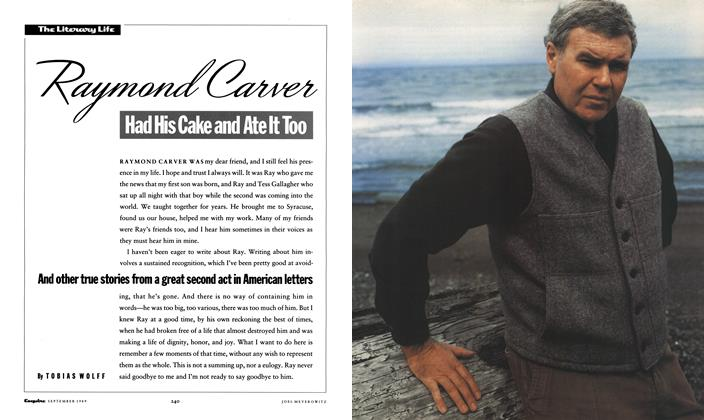 Article Preview: Raymond Carver Had His Cake and Ate It Too, September 1989 | Esquire