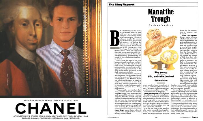 Article Preview: Man at the Trough, September 1989 1989 | Esquire