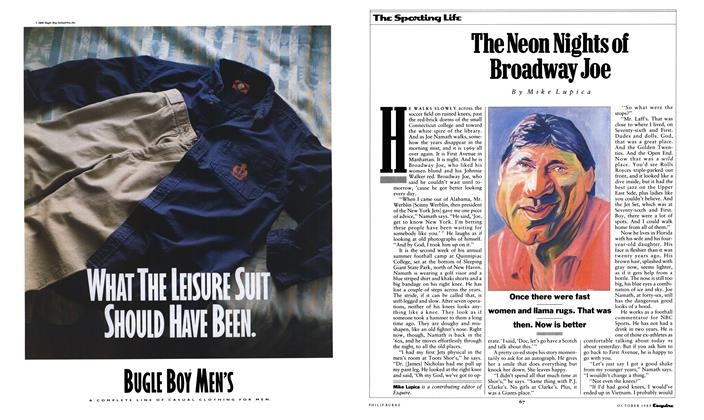 Article Preview: The Neon Nights of Broadway Joe, October 1989 | Esquire