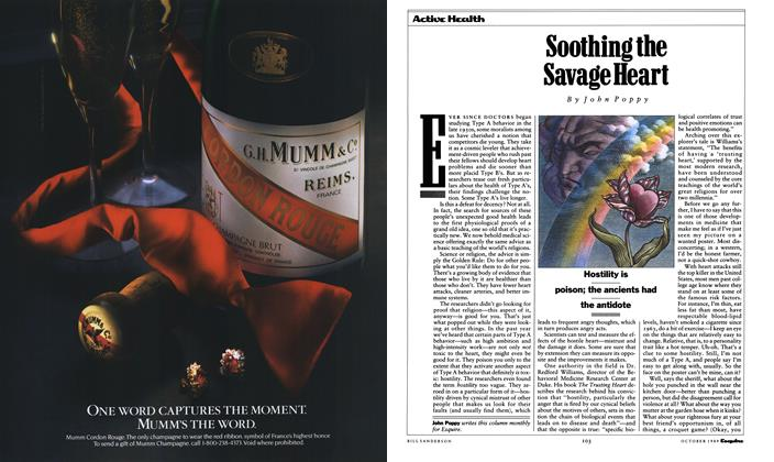 Article Preview: Soothing the Savage Heart, October 1989 1989 | Esquire