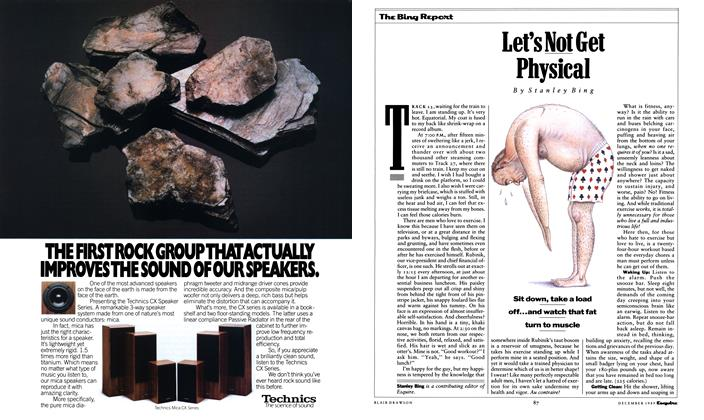 Article Preview: Let's Not Get Physical, December 1989 1989   Esquire