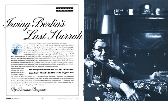 Article Preview: Irving Berlin's Last Hurrah, January 1990 1990 | Esquire