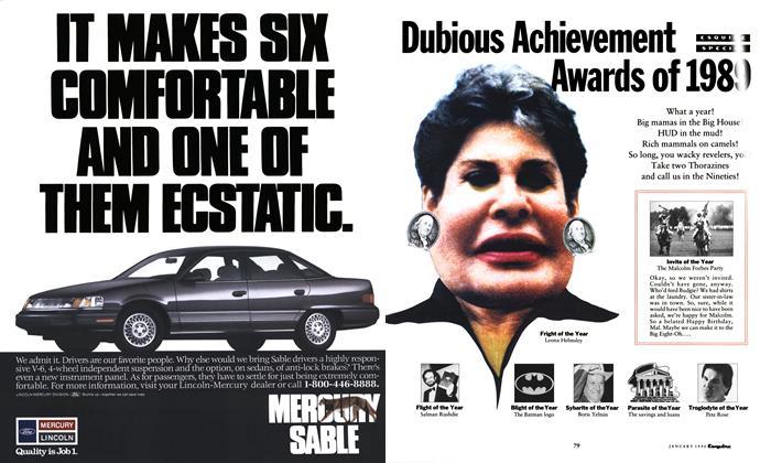 Dubious Achievement Awards of 1989
