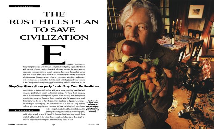 Article Preview: The Rust Hills Plan to Save Civilization, February 1990 | Esquire