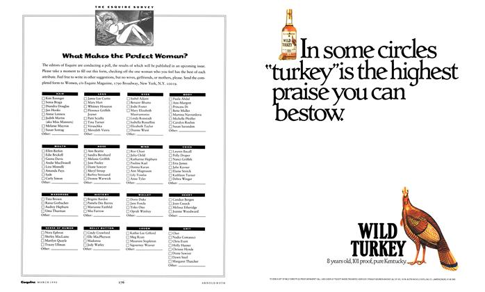 Article Preview: What Makes the Perfect Woman?, March 1990 1990 | Esquire