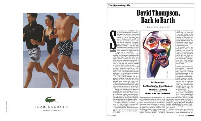 Article Preview: David Thompson, Back to Earth, March 1990 1990 | Esquire