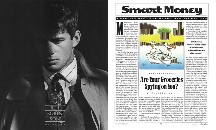 Article Preview: Are Your Groceries Spying on You?, March 1990 | Esquire