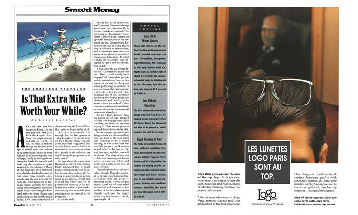 Article Preview: Is That Extra Mile Worth Your While?, March 1990 | Esquire