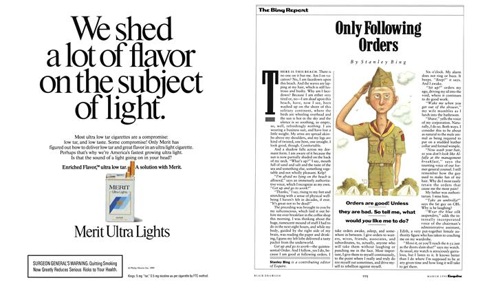 Article Preview: Only Following Orders, March 1990 | Esquire