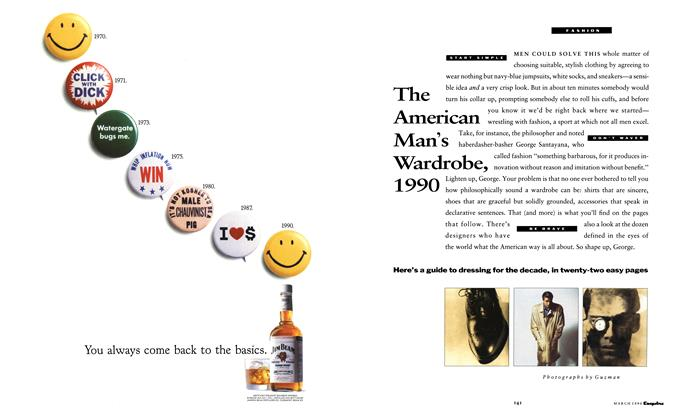 Article Preview: The American Man's Wardrobe, 1990, March 1990 | Esquire