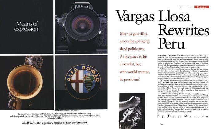 Vargas Llosa Rewrites Peru