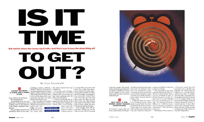 Article Preview: Is It Time to Get Out?, April 1990 | Esquire