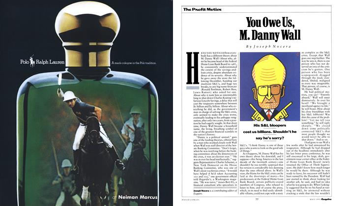 You Owe Us, M. Danny Wall