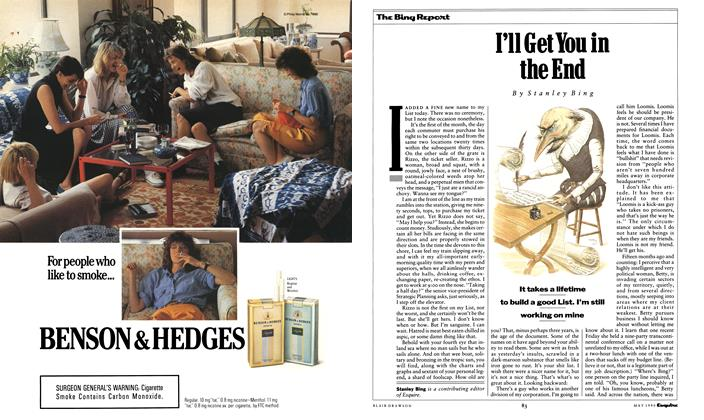 Article Preview: I'll Get You in the End, May 1990 1990 | Esquire