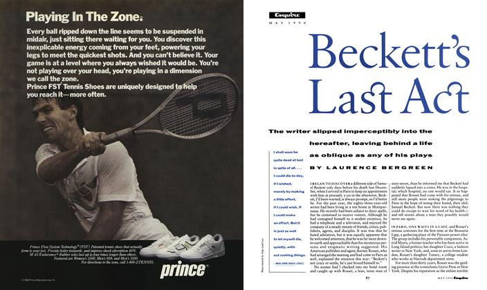 Article Preview: Beckett's Last Act, May 1990 1990 | Esquire