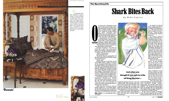 Article Preview: Shark Bites Back, June 1990 1990 | Esquire