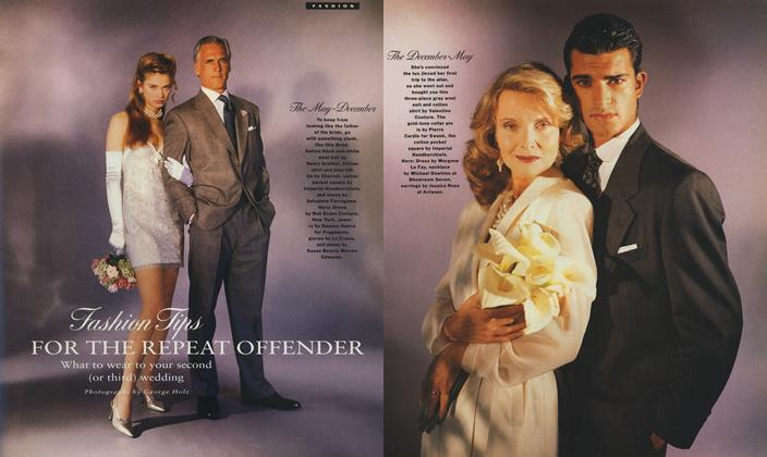 Article Preview: Fashion Tips FOR THE REPEAT OFFENDER, June 1990 1990 | Esquire