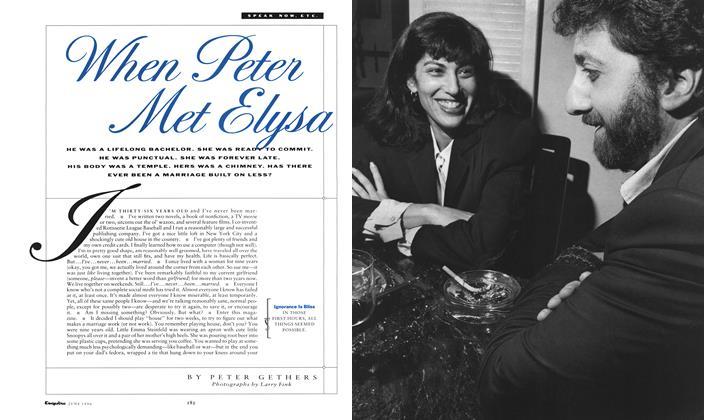 When Peter Met Elysa