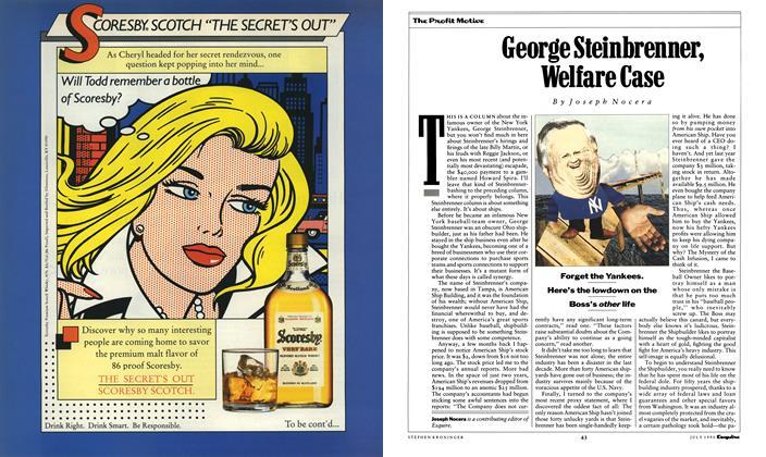 George Steinbrenner, Welfare Case
