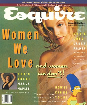Cover for the August 1990 issue