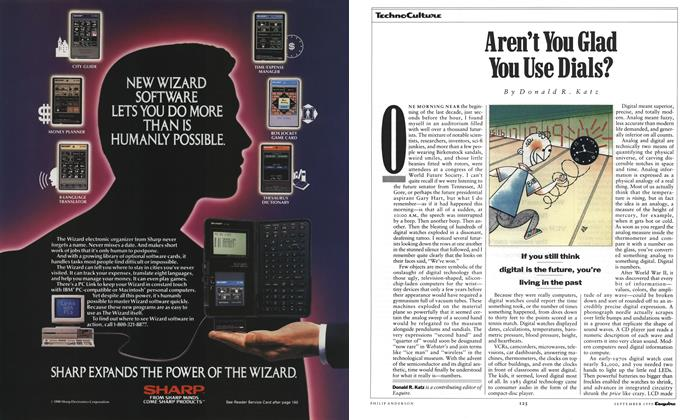 Article Preview: Aren't You Glad You Use Dials?, September 1990 | Esquire