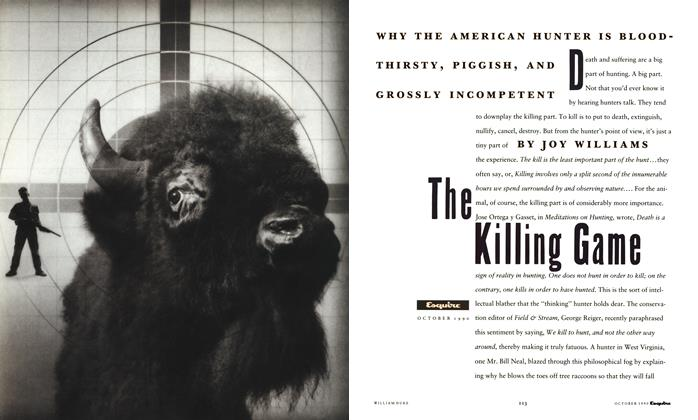 Article Preview: The Killing Game, October 1990 | Esquire