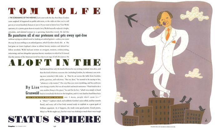 Article Preview: Tom Wolfe Aloft in the Status Sphere, October 1990 | Esquire