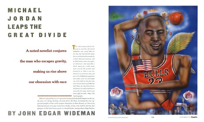 Article Preview: Michael Jordan Leaps the Great Divide, November 1990 | Esquire