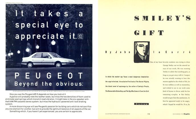 Article Preview: Smiley's Gift, December 1990 1990 | Esquire