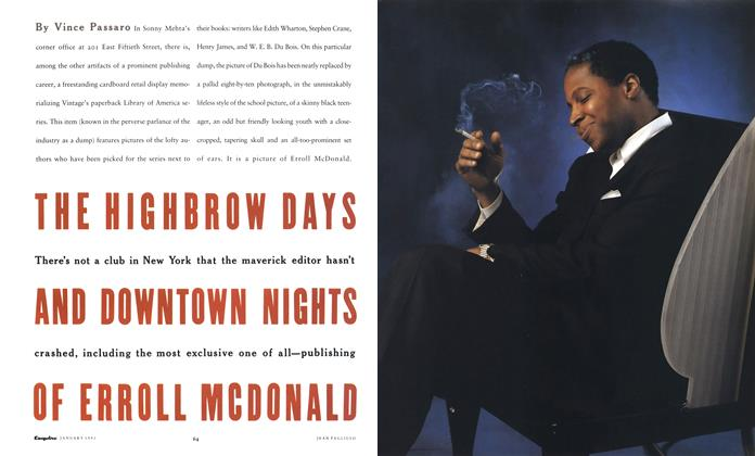 The Highbrow Days and Downtown Nights of Erroll McDonald
