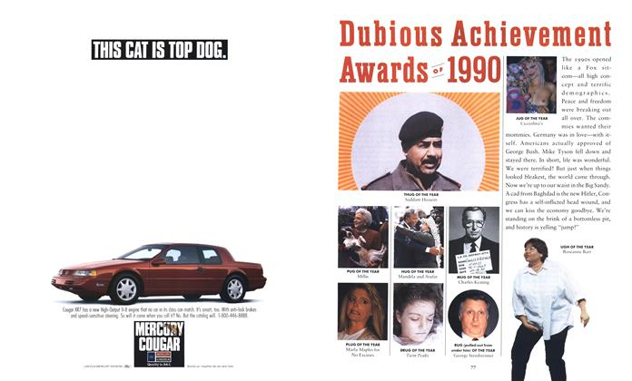 Article Preview: Dubious Achievement Awards of 1990, January 1991 1991 | Esquire