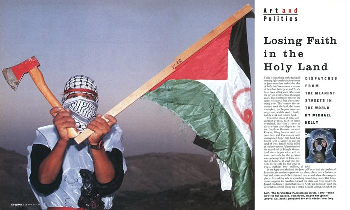 Article Preview: Losing Faith in the Holy Land, February 1991 | Esquire