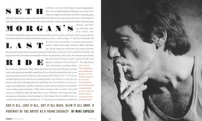 Article Preview: Seth Morgan's Last Ride, February 1991 | Esquire