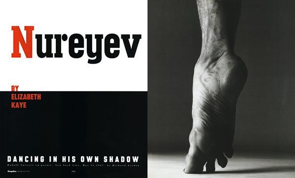 Nureyev Dancing in His Own Shadow