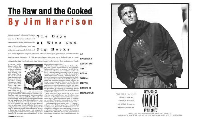 Article Preview: The Days of Wine and Pig Hocks, MARCH 1991 1991 | Esquire