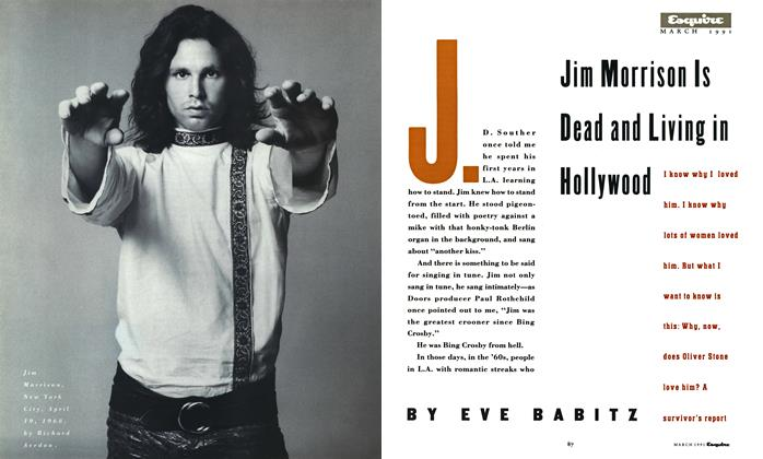 Article Preview: Jim Morrison Is Dead and Living in Hollywood, March 1991 | Esquire