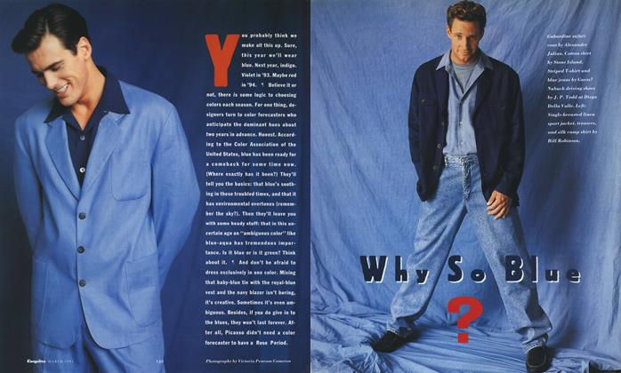 Article Preview: Why So Blue?, MARCH 1991 1991 | Esquire