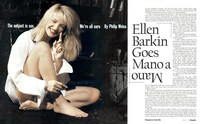 Ellen Barkin Goes Mano a Mano