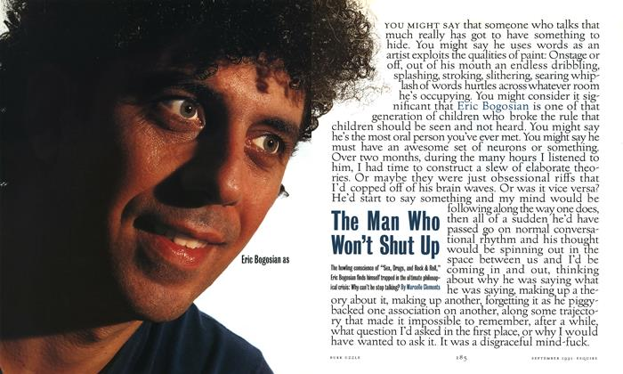 Article Preview: The Man Who Won't Shut Up, September 1991 | Esquire