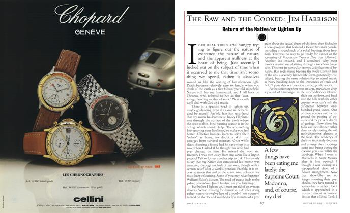 Article Preview: Return of the Native/or Lighten Up, OCTOBER 1991 1991   Esquire