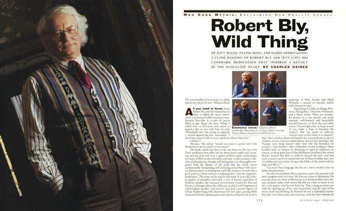 Article Preview: Robert Bly, Wild Thing, October 1991 | Esquire