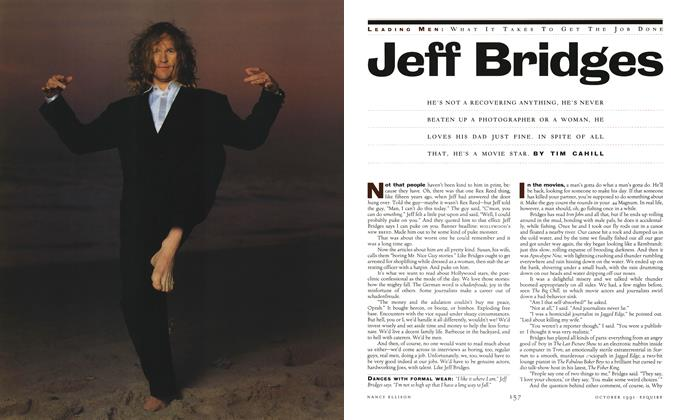 Article Preview: Jeff Bridges, October 1991 | Esquire