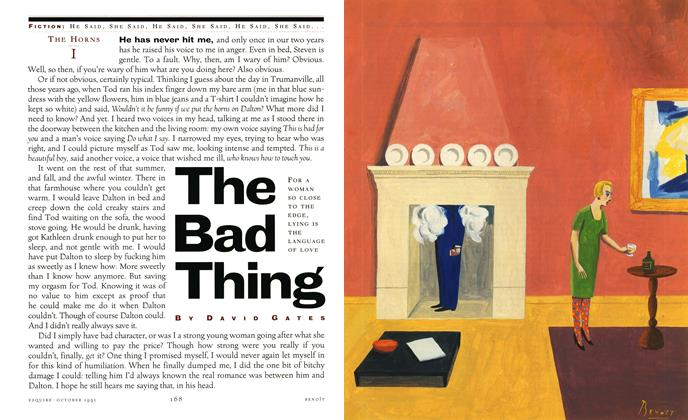 Article Preview: The Bad Thing, October 1991 | Esquire