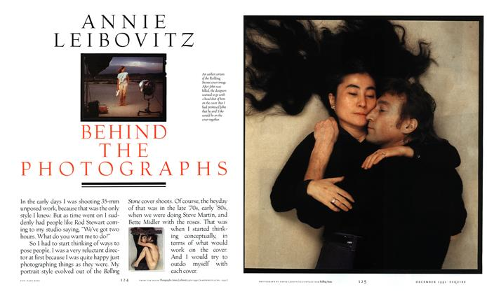 Article Preview: Behind the Photographs, DECEMBER 1991 1991 | Esquire
