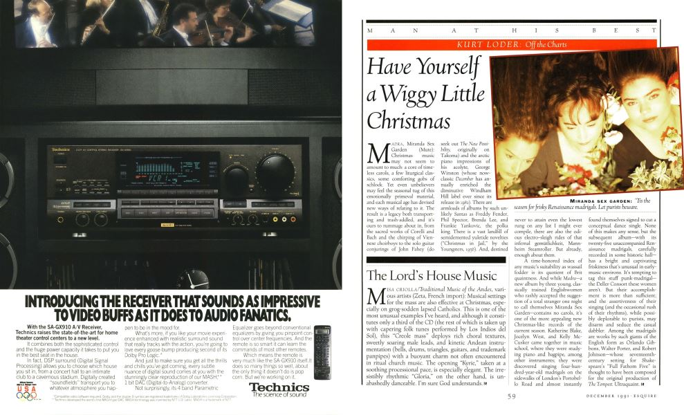 When Is Little Christmas.Have Yourself A Wiggy Little Christmas Esquire December 1991