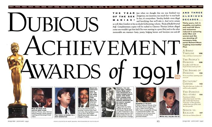 Dubious Achievement Awards of 1991!